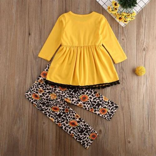 US Girls Outfits Clothes Sleeve Pants Sets