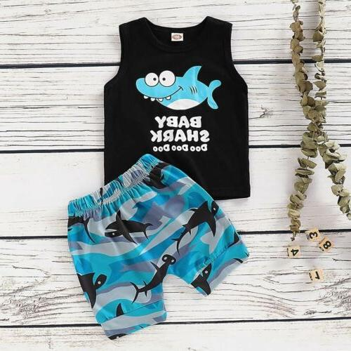 US Cute Kids Baby Summer T-shirt Outfits