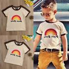 US Kids Boys Girls Rainbow Cool Funny T-shirt Casual Summer
