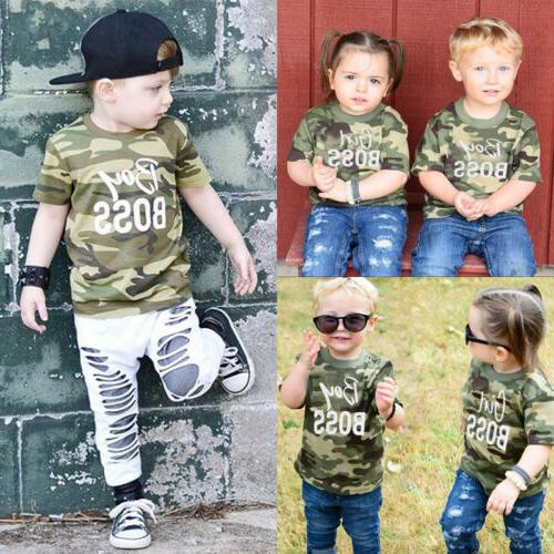 us stock kid baby boy girl matching
