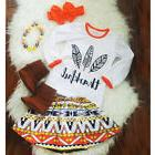 Canis 3Pcs Newborn Kids Baby Girls Thanksgiving Tops T-shirt