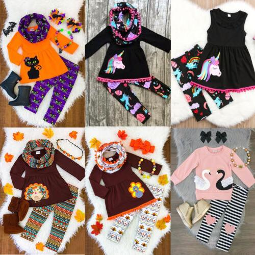 usa unicorn kids baby girl outfits clothes
