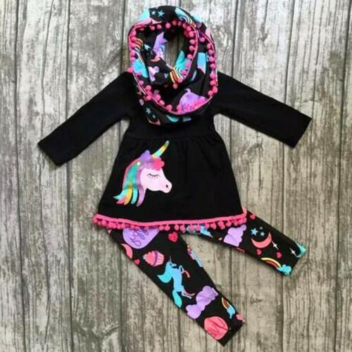 usa unicorn kids baby girls outfits clothes