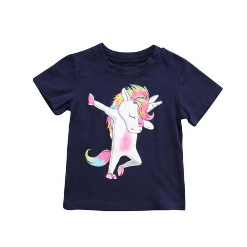 USA Toddler Baby Boy Tees Tops T-shirt Clothes Cartoon