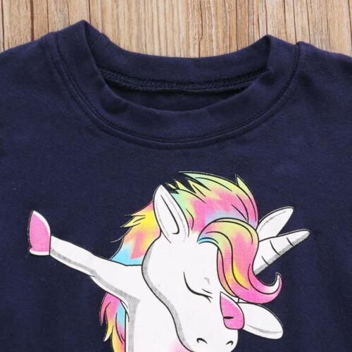 USA Unicorn Baby Tees Cartoon