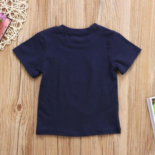 USA Baby Boy Girl Casual Tees Tops Cartoon