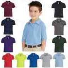 Gildan Youth DryBlend Polo Double Pique Sport Shirt Kids T-S