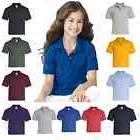 Gildan Youth Polo Childrens Polos Jersey Sport Shirt School