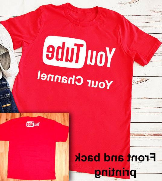 youtube t shirt personalized channel broadcast