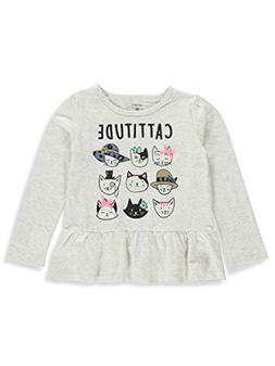 Carter's Little Girls' Toddler L/S Top - Ivory, 2t
