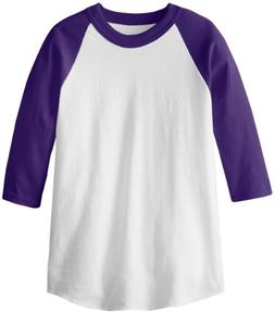DUCHINNI MJ Soffe Kid's 3/4 Sleeve Baseball Jersey, Medium,
