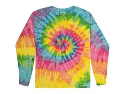 multi color saturn tie dye t shirts
