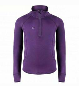 NEW HORZE KID'S ANDIE LONG SLEEVE TECHNICAL SHIRT, VIOLET, F