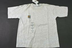 New Carhartt Toddlers 3T Oatmeal Short Sleeve Pocket Everyda