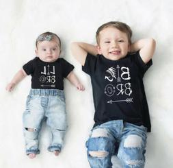 Newborn Baby Boy Romper Bodysuit / Big Brother Kids T-shirt