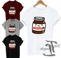NUTELLA CHOCOLATE HAZELNUT  PRINT FUNNY ART KIDS MENS UNISEX