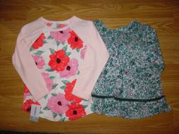 NWT Carter's 4T floral long sleeve shirt Genuine Kids OshKos