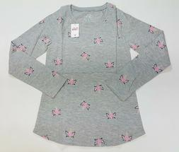 NWT Justice Kids Girls Size 14/16 Gray Ice Cream Unicorn Shi