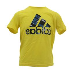 Adidas Performance Kids Youth Size 100% Cotton Yellow T-Shir
