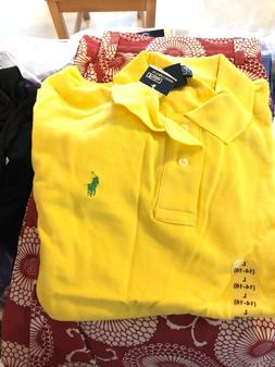POLO RALPH LAUREN Yellow Short Sleeve Polo Shirt Kids Boys Y