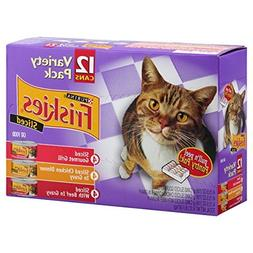 Friskies Purina Meaty Bits Cat Food Variety Pack, 4.12 lb