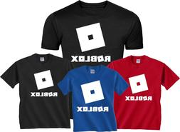 ROBLOX design in white ROBOT ADULT Kids Toddlers Youth T-Shi
