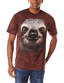 The Mountain Men's Sloth Face T-Shirt, Brown, Medium