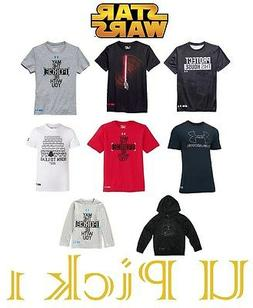 Under Armour Star Wars T-Shirt Boys Youth Heat Gear Top Tee