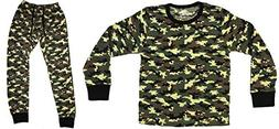 At The Buzzer Thermal Underwear Set Pajamas for Boys 95366-G