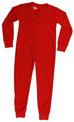 At The Buzzer Thermal Union Suits for Boys 7373-RED-10-12