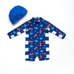 Bonverano TM Infant Boy's UPF 50+ Sun Protection L/S One Pie