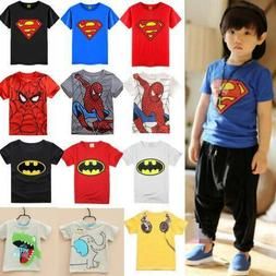Toddler Baby Kids Boys T-Shirt Tops Spiderman Batman Cos Out