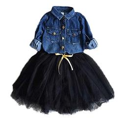 Colorful Childhood Toddler Girls Clothing Sets Kids Denim Sh