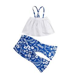 Aliven Toddler Girls Summer Clothes Strap Off Shoulder T-Shi