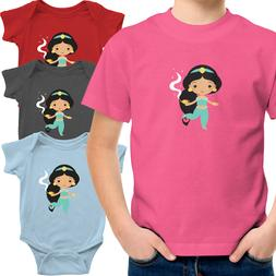 Toddler Kid Tee Shirt Infant Baby Bodysuit Aladdin Princess