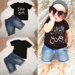 Toddler Kids Baby Boy Camo Outfits Clothes T-shirt Tops+Pant