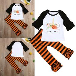 Toddler Kids Baby Girl Floral Top T-shirt Long Pants Legging
