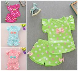 Toddler Kids Baby girls summer Outfits Clothes T-shirt &shor