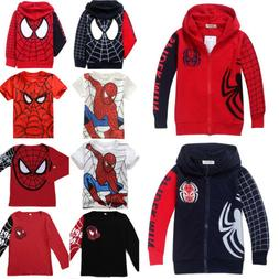 toddler kids boy spiderman t shirt tops