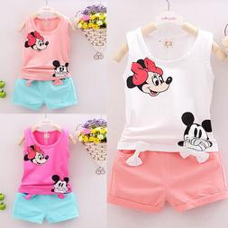 Toddlers Kids Baby Girls T-shirt Tops+Pants/Shorts/Dress Out