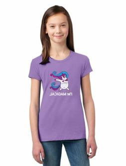 Unicorn Dab I'm Magical Dabbing Unicorn Girls' Fitted Kids T