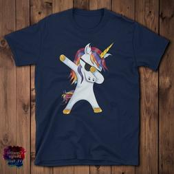 Unicorn Dabbing Shirt - Cute Unicorn Dab Tshirt Gift Men, Wo