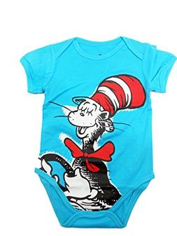 Unisex-baby Newborn Dr. Seuss The Cat in The Hat Graphics Sh