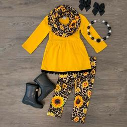 US Child Toddler Kids Girls Outfits Clothes Long Sleeve T sh
