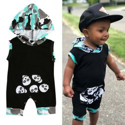 US Newborn Toddler Baby Kids Boys Girls Outfits Clothes Romp