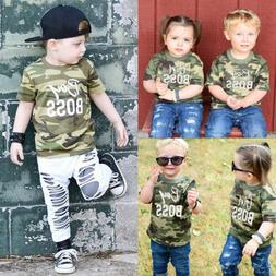 US Stock Kid Baby Boy Girl Matching Clothes Romper Bodysuit