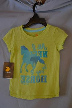 "Carhartt Yellow T-Shirt ""All I Need Is My Horse"" Girls/Kids/"