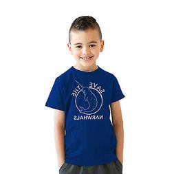 Youth Save The Narwhals Tshirt Funny Narwhal Unicorn Shirt F